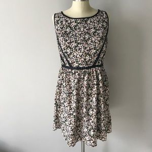 Three Pink Hearts black and pink floral dress